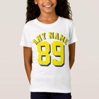 Camiseta Design branco & amarelo do jérsei dos esportes dos