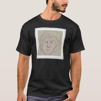 Camiseta Design cego do desenho do contorno
