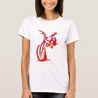 Camiseta Design colorido da bicicleta