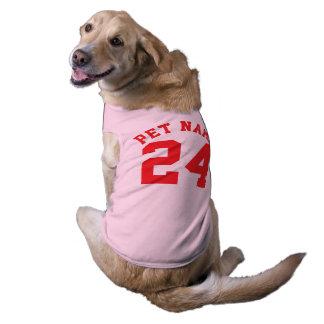 Camiseta Design cor-de-rosa & do vermelho dos animais de