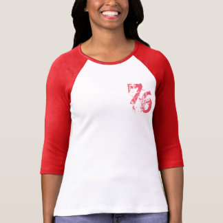 Camiseta design customizável do t-shirt number-76