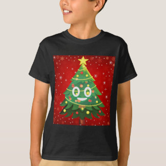 Camiseta Design da árvore do Xmas de Emoji