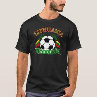 Camiseta Design da bola de futebol de Lithuania