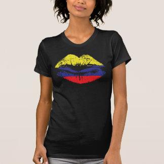 Camiseta Design da camisola de alças dos lábios de Colômbia