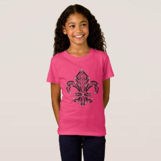 Camiseta Design da flor de lis na criança/t-shirt da