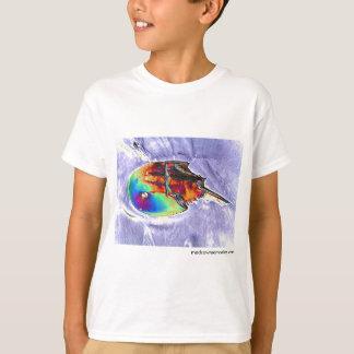 Camiseta Design da folha do caranguejo em ferradura
