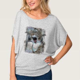 Camiseta Design da foto do gato da boca no t-shirt