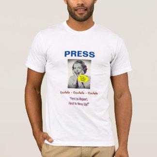 Camiseta Design da imprensa #3 de Covfefe: T-shirt (branco)
