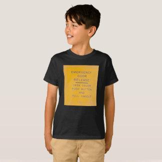 Camiseta Design da liberação da porta de emergência do