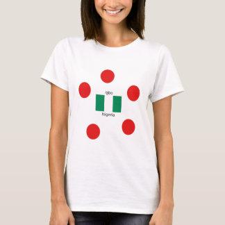 Camiseta Design da língua da bandeira e do Igbo de Nigéria