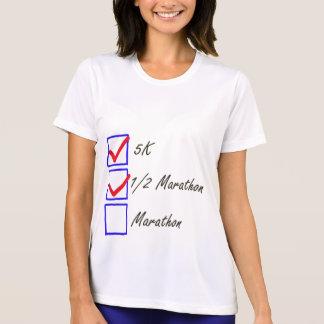 Camiseta Design da lista de verificação do corredor