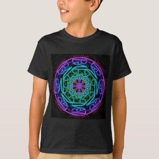 Camiseta Design da mandala das luzes de néon