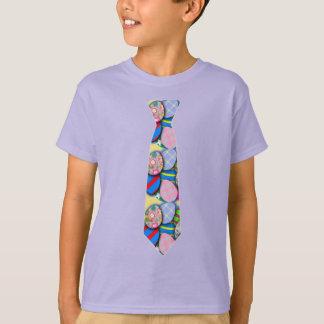 Camiseta Design da páscoa com gravata do ovo da páscoa