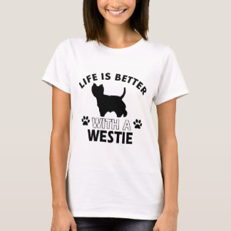 Camiseta Design da raça do cão de Westie