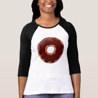 Camiseta Design da rosquinha do chocolate dos desenhos