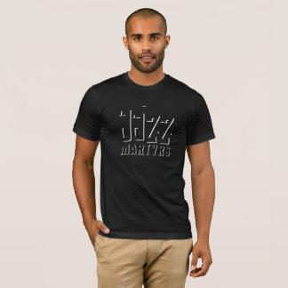 Camiseta Design da sombra do t-shirt dos mártir do jazz