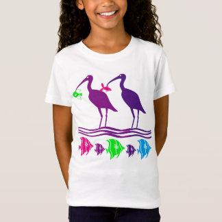 Camiseta Design das garças-reais e dos peixes