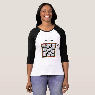 Camiseta Design das palavras cruzadas no t-shirt das