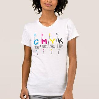 Camiseta Design de CMYK com o carácter tipo (branco) -