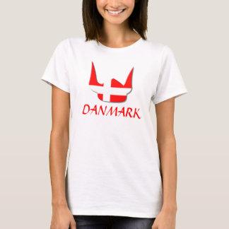 Camiseta Design de Dinamarca Danmark da bandeira de Viking