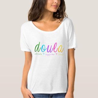 Camiseta Design de Doula do arco-íris
