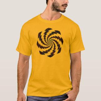 Camiseta design de giro dos flashes da roda oxidada