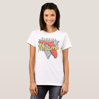Camiseta Design de Miami Beach Florida 80s
