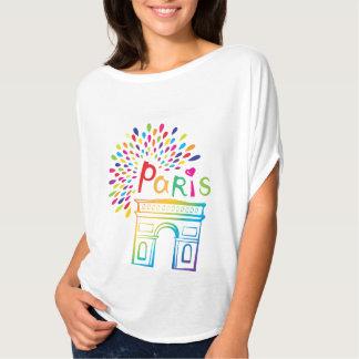 Camiseta Design de néon de Paris France | Arco do Triunfo |