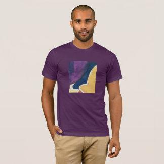 Camiseta Design do abstrato do t-shirt, beringela, ardósia,