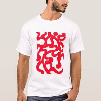 Camiseta Design do abstrato do vermelho