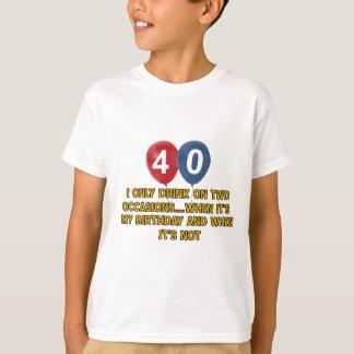 Camiseta Design do aniversário das pessoas de 40 anos
