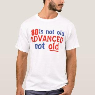 Camisas Camisetas Aniversário Pessoas 80 Anos Zazzlecombr