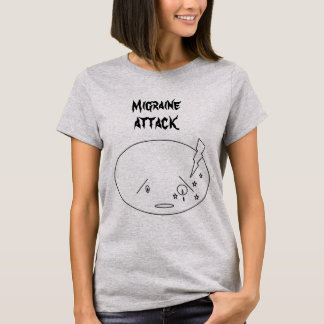 Camiseta Design do ataque da enxaqueca