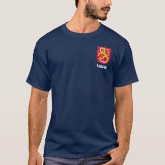 Camiseta Design do bolso da brasão de Finlandia