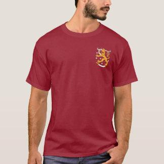 Camiseta Design do bolso do leão da brasão de Finlandia