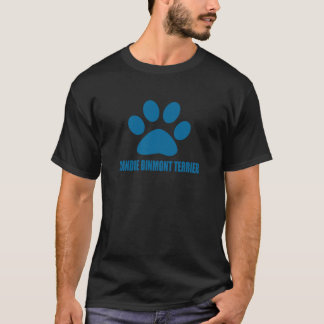 CAMISETA DESIGN DO CÃO DE DANDIE DINMONT TERRIER