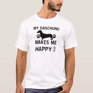 Camiseta Design do cão de Daschund