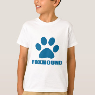 CAMISETA DESIGN DO CÃO DO FOXHOUND