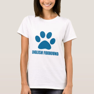 CAMISETA DESIGN DO CÃO DO FOXHOUND INGLÊS