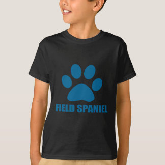 CAMISETA DESIGN DO CÃO DO SPANIEL DE CAMPO