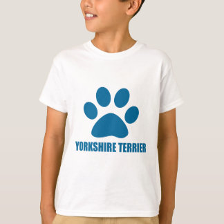 CAMISETA DESIGN DO CÃO DO YORKSHIRE TERRIER