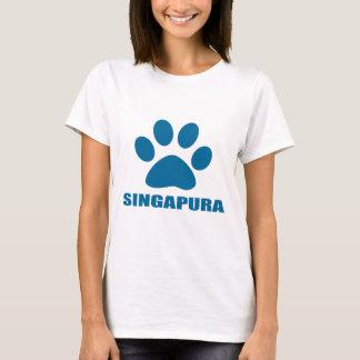 CAMISETA DESIGN DO CAT DE SINGAPURA