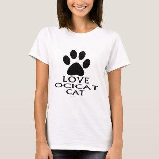 CAMISETA DESIGN DO CAT DO AMOR OCICAT