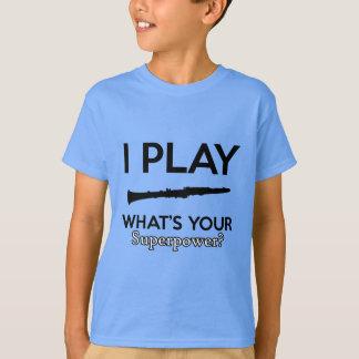 Camiseta design do clarinete