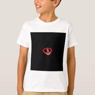 Camiseta Design do coração da vela para o estado de