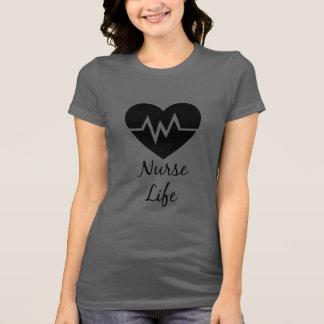 Camiseta Design do coração da vida EKG da enfermeira