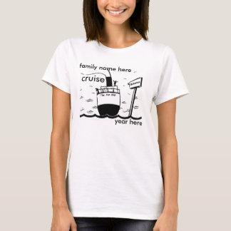 Camiseta design do cruzeiro da família