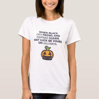 Camiseta Design do Dia das Bruxas das abóboras do gato