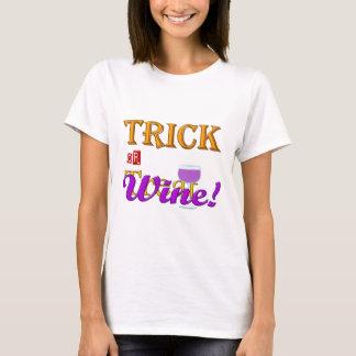 Camiseta Design do Dia das Bruxas do vinho da doçura ou