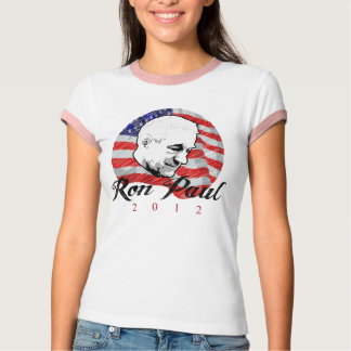 Camiseta Design do esboço de Ron Paul 2012